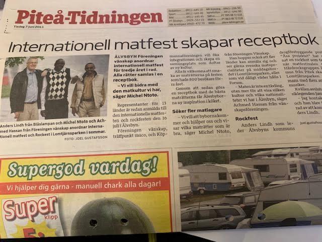 Internationell matfest skapar receptbok 2011 i Älvsbyn
