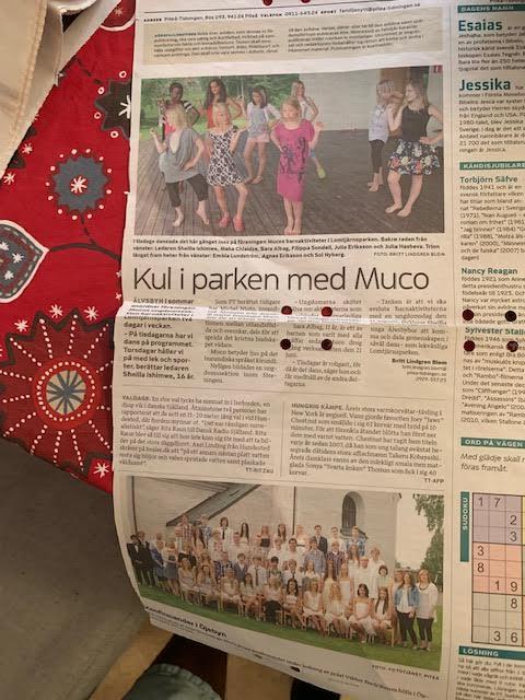 Kul i parken med Muco  i Älvsbyn